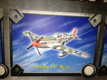 Flight Wing 1/18 Scale WWII USAF 4th Fighter Group P-51D Man of War Plane FW001B #FW001B